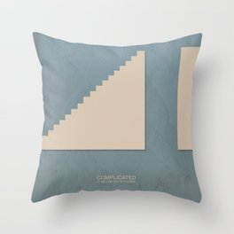 complicated Throw Pillow