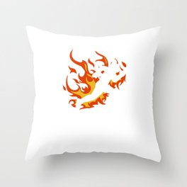 "A Science Experimantal Tee For Students Saying ""I Tried It At Home"" T-shirt Design Fire Hot Sci-Fi Throw Pillow"
