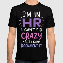 HR The Unofficial Lawyer Psychologist Event Planner Teacher T-shirt