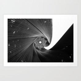 The Black Spiral Art Print
