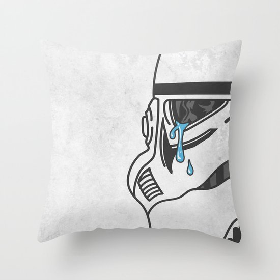 Tears of the Trooper Throw Pillow