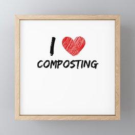 I Love Composting Framed Mini Art Print