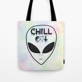 Chill Out Alien Tote Bag