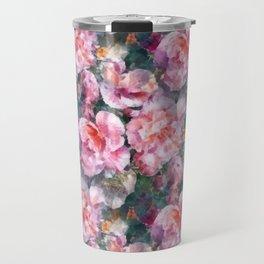 Pink floral pattern Travel Mug