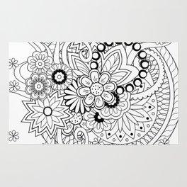 zen composition in black&white Rug