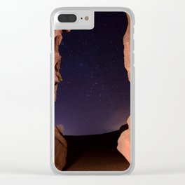 Canyon Stars Clear iPhone Case