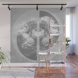 Grey Flower Geometry Wall Mural