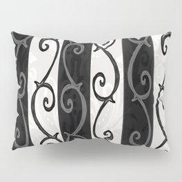Burtonesque Stripes and Swirls.. Pillow Sham