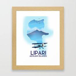 Lipari Map Framed Art Print