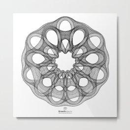 GEOMETRIC NATURE: DAHLIA w/b Metal Print