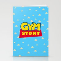 gym Stationery Cards featuring Gym Story by SuperPrints