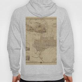 Map of Montreal 1859 Hoody