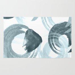 Curling Blue Rug
