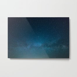 Navy Blue Galaxy Metal Print