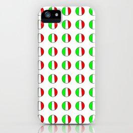 Flag of Italy in a polka dot - Italy,Italia,Italian,Latine,Roma,venezia,venice,mediterreanean,Genoa, iPhone Case
