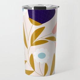 Cute retro flower Travel Mug