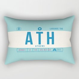 Baggage Tag B - ATH Athens Airport Greece Rectangular Pillow