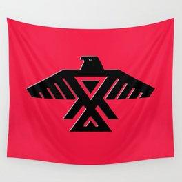Thunderbird flag - Black on Red variation Wall Tapestry