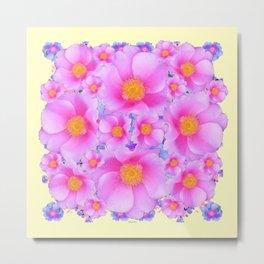 Pink ROSES & CREAM COLOR ART Metal Print