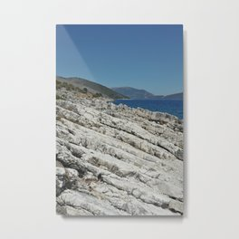 Holiday Rocks by the Sea in Kefalonia Metal Print