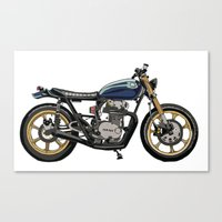 motorcycle Canvas Prints featuring Motorcycle by Thomas M Card