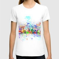 new york skyline T-shirts featuring New York skyline by Bekim ART