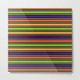 Modern colorful halloween October 31 abstract stripes Metal Print
