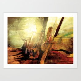 Enough Conflict Art Print
