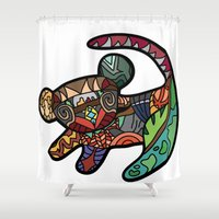 simba Shower Curtains featuring Simba by Ilse S
