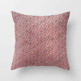 Floral Grunge Metal Pattern Throw Pillow