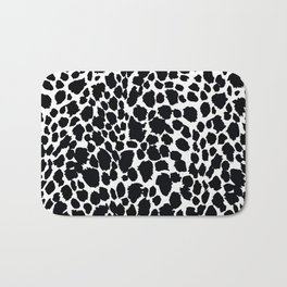 Animal Print Cheetah Black and White Pattern #4 Bath Mat