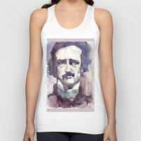 edgar allan poe Tank Tops featuring Edgar Allan Poe by Germania Marquez