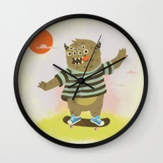 Skate Away Wall Clock