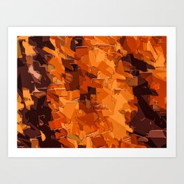 brown and dark brown painting abstract background Art Print