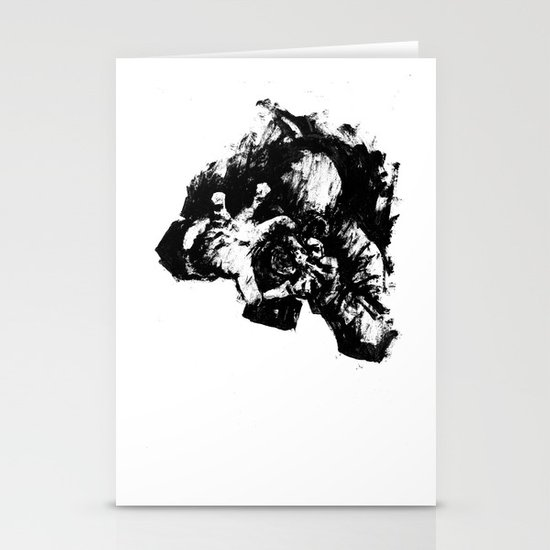 Leroy (Messy Ink Sketch) Stationery Cards