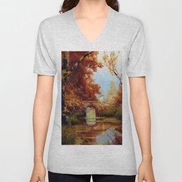 Autumn Landscape Unisex V-Neck