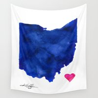 ohio Wall Tapestries featuring Ohio by Kathy Morton Stanion