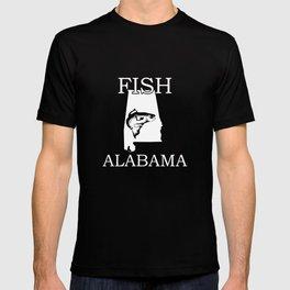Fish Alabama Fishing print   Funny Fishing Apparel T-shirt