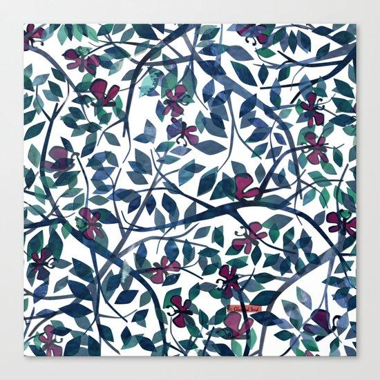 Butterflies in the Garden Canvas Print