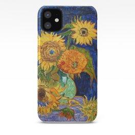 Van Gogh, Five Sunflowers 1888 Artwork Reproduction, Posters, Tshirts, Prints, Bags, Men, Women, Kid iPhone Case