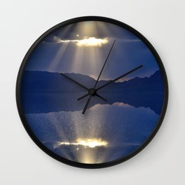 Sun over Salt Flats Wall Clock