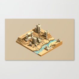 Site Plan Canvas Print