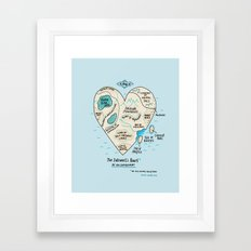 The Introvert's Heart Framed Art Print