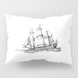 sailing ship . Home decor Graphicdesign Pillow Sham