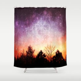 birth of a supernova Shower Curtain