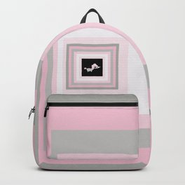 Paint Chip Toy Poodle Backpack
