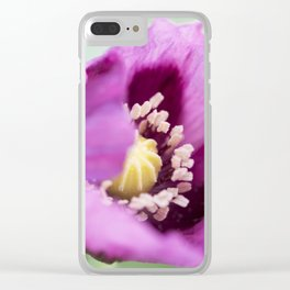 Hungarian Blue Bread Seed Poppy Clear iPhone Case