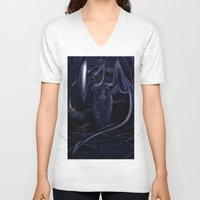alien V-neck T-shirts featuring Alien by MatoSwamp