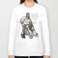 finland Long Sleeve T-shirts featuring Thor of Finland by Randy Meeks