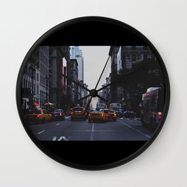 New York Traffic Wall Clock